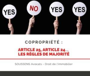 Read more about the article Copropriété : article 25, article 24… les règles de majorité