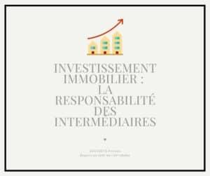 Read more about the article La responsabilité des intermédiaires en matière d'investissement locatif