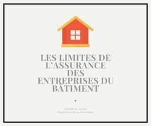 Read more about the article Les limites de l'assurance des entreprises du bâtiment