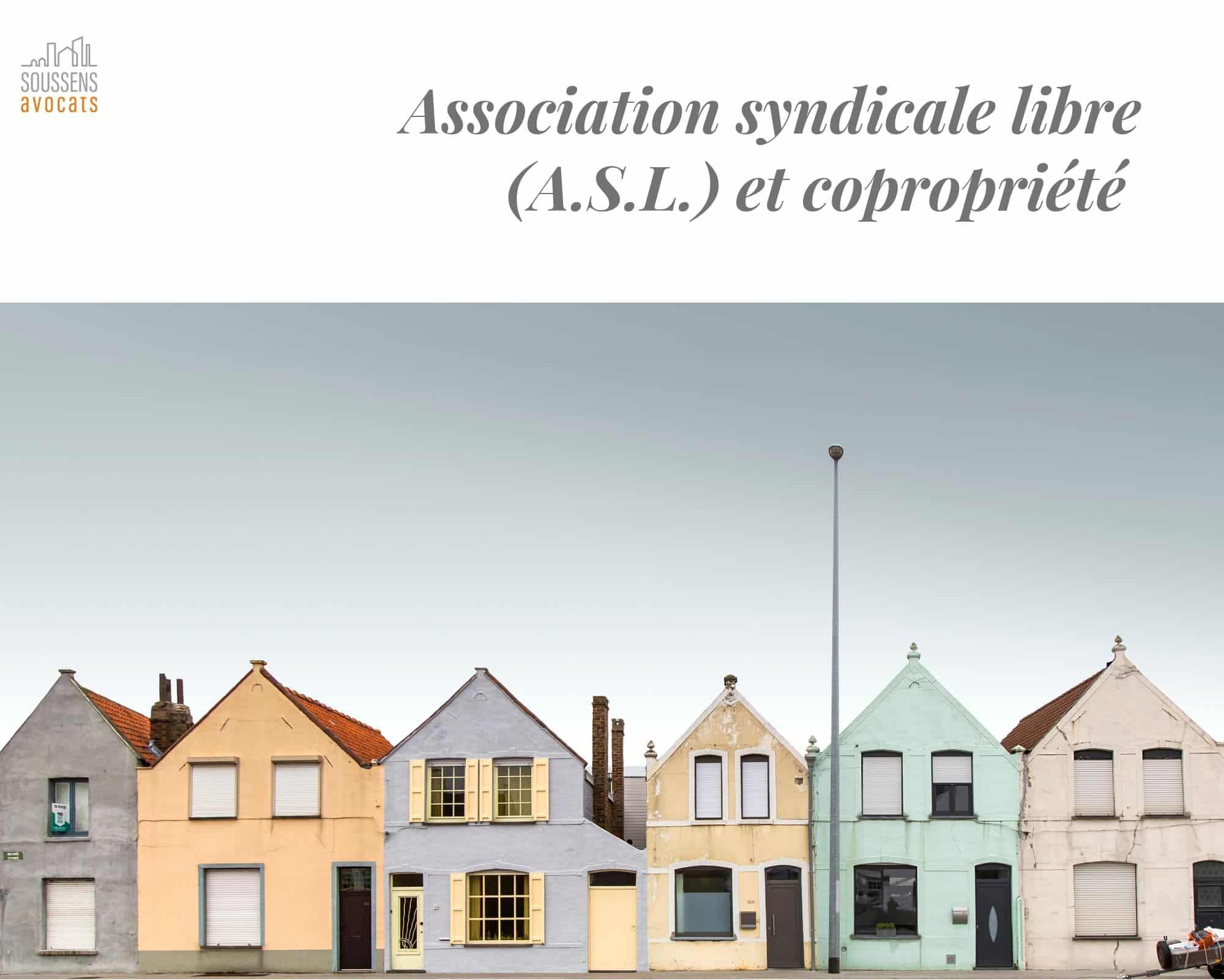Read more about the article Association syndicale libre et copropriété
