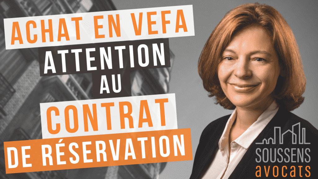 avocat VEFA réservation